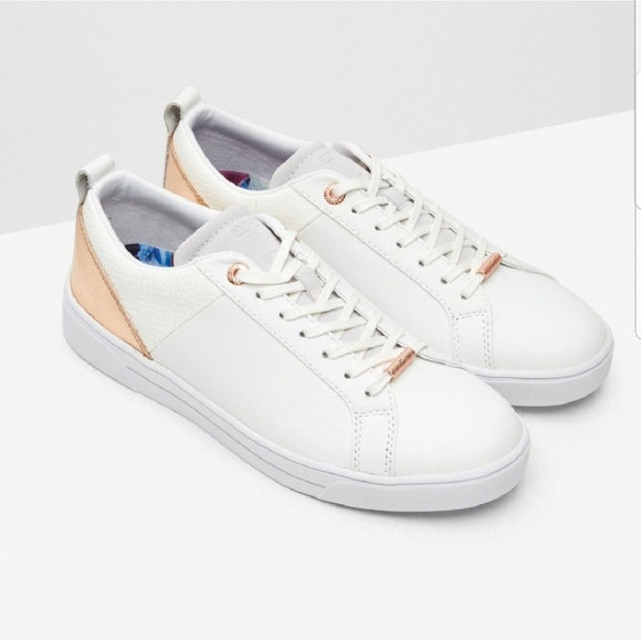 big sale pre order newest Ted Baker London Shoes | Ted Baker Kulei White Sneakers Rose Gold ...